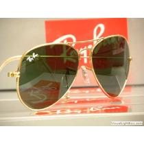 Óculos Ray Ban Aviador De Sol Feminino Masculino 3025 3026