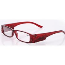 Óculos Para Leitura Com Led Em Ambas As Hastes-marrom