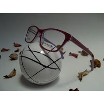 Armação Infantil Óculos P/ Grau Feminino Acetato, Vermelha