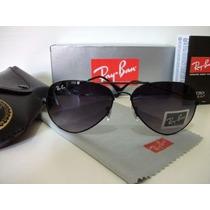 Óculos Rayban Preto Aviador Ray Ban 100% Original Frete Free