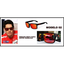 Óculos Polarizado (( Holbrook)) Preto Fosco Lente Vermelha