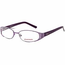 Óculos Feminino Grau Carmim Armação Lilás Roxo Cristais