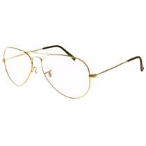 Armacao Oculos De Grau Aviador Rb3025 E Rb3026 Promoção