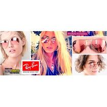 Óculos Ray Ban Aviador Rosa Rb3025 Rb3026 Espelhado Original