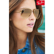 Aviador Marrom Degrade Certif. Originalid. 3025 3026 Ray Ban