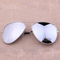 Óculos Police Aviador Metal Espelho Proteção Uv