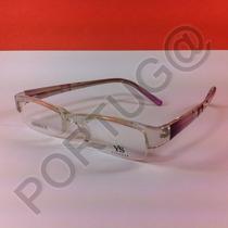 Armação Transparente Com Lilás Uva Mulher Óculos Lentes Grau