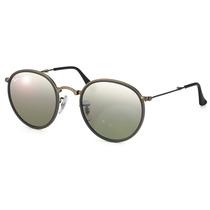 Óculos De Sol Ray Ban Round Metal Dobrável Rb3517 029/n8
