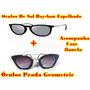Kit 2 Oculos Super Promoção Ray Ban Veludo + Prada Geometric