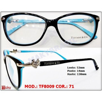 Armacão Tiffany Tf8009 Feminino Acetato P/ Grau