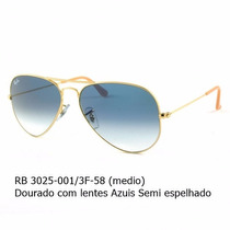 Ray Ban 3025 001/3f-58- Lentes Azuis Degrade-original