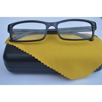Óculos Grau Quadrado Unissex Preto Colorido Fem Masc +4,5