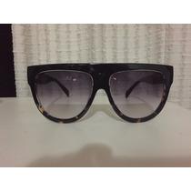 Óculos Céline Preto E Animal Print