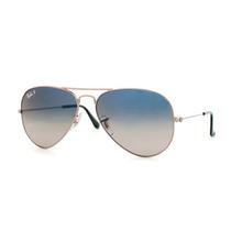 Óculos Sol Rayban Rb3025 Aviador Original Prata Azul Degrade