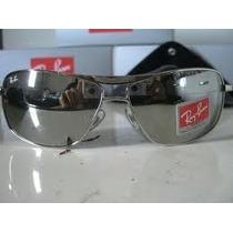 Óculos Aviador 8013 Prata Lentes Espelhadas