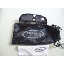 Óculos De Sol Triton Original Feminino Preto Estado De Novo