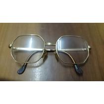 Antiga Armação De Óculos De Grau Cestavada Dourada