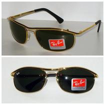 Óculos Aviador 8012 Dourado Lentes Verdes