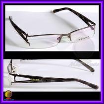 Óculos De Grau, Armação, Aro Grafite Haste Preta Pr517hv