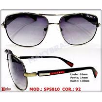 Oculos Sps810 Sol Masculino Preto - Grafite .