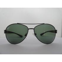 Oculos De Sol 3386 Aviador Grafite Lente Verde G15