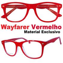 Armação Para Óculos De Grau Wayfarer Vermelho Exclusivo Medd