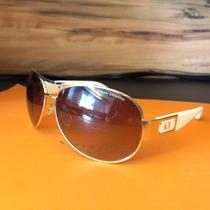 Oculos Armani Exchange Branco Lente Marrom/ Ralph Lauren New