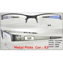 Armação Metal Plate Para Grau Receituário Masculino
