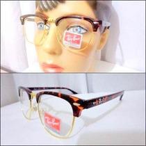 Oculos Armação Grau Tartaruga Rb Clubmaster Rb 3016 Onça