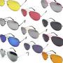Óculos Aviador E Modelos Com Lentes Coloridas Frete Grátis