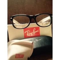 Armacao Óculos De Grau Mod Wayfarer Rb5228 Branco/preto