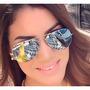 Oculos Rayban Aviador Prata Espelhado Masculino Feminino