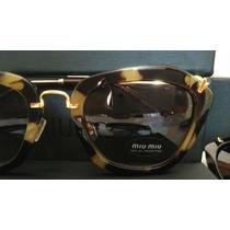 Óculos Miu Miu Noir Cat Retrô + Case Miu Miu
