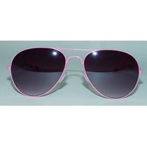 Oculos De Sol Armação Rosa Estilo Aviator