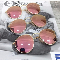 Óculos Ray Ban Rb3447 Round Rosê (john Lennon) Em Cristal .