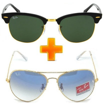Ray Ban Pague 1 Leve 2 Aviador 3025 E 3026 Clubmaster