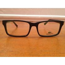 Armação De Óculos Lacoste Acetato Preto