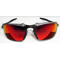Oculos Badman Plasma Lente Fire Red Polarizada Uv/uva 400