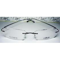 Armação Oculos Grau Flexivel Silhouette Titanium S Aro Preta