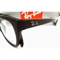 Armação Óculos De Grau Rb5298 Preto Fosco+ Case+ Flanela