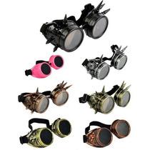 Óculos Gothic Gótico Vintage Steampunk Spike Geek Cosplay