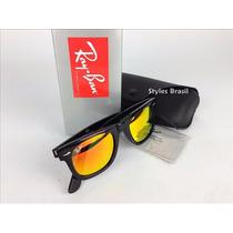 Óculos Rayban Wayfarer 2140 Espelhado Garantia +frete Gratis