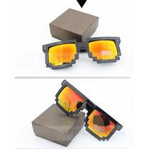 Óculos De Sol Lentes Espelhadas 8bit Pixel Geek Minecraft