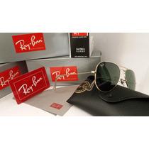 Óculos De Sol 3025 Armação Dourado Lente Verde