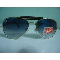 Oculos De Sol 3422q Caçador Dourado Azul Ddg Couro Preto 62m