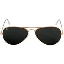 Óculos De Sol Aviador 3025 Dourado Lentes Pretas