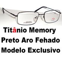 Armação Para Óculos De Grau Titânio Memory E Molas 180graus