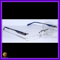 Óculos De Grau, Armação, Haste Preta E Azul Vps586