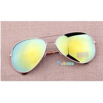 Óculos Aviador Lentes Espelhadas Uv400