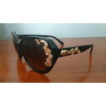 Óculos De Sol Dolce & Gabbana Dg4167-a Black Pronta Entrega
